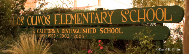 Los Olivos Elementary School sign
