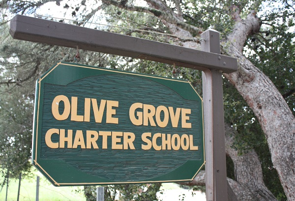 Olive Grove School sign